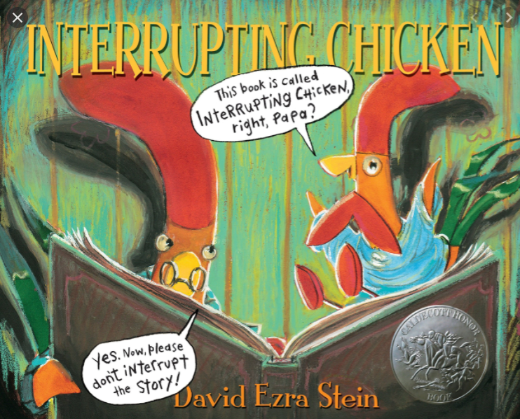 Ms. Sullivan reading Interrupting Chicken