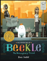 Mrs. Russell reading The Adventures of Beekle The Unimaginary Friend