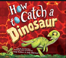 Mrs. Kissinger reading How to Catch a Dinosaur