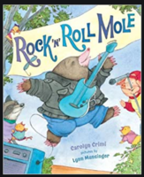 Miss LeBlanc reading Rock 'N' Roll Mole